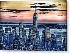 New York - Manhattan Landscape Acrylic Print by Marianna Mills