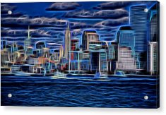 New York New York  Acrylic Print by Dan Sproul
