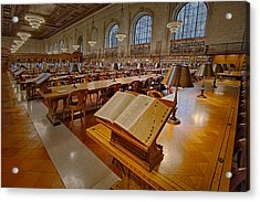 New York Public Library Rose Main Reading Room  Acrylic Print by Susan Candelario