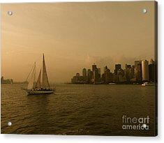New York Sailing Acrylic Print by Avis  Noelle