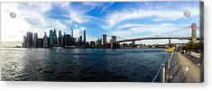 New York Skyline - Color Acrylic Print by Nicklas Gustafsson