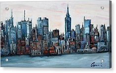 New York Skyline Acrylic Print by Michael  Accorsi
