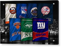 New York Sports Teams Acrylic Print by Joe Hamilton