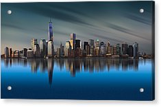 New York World Trade Center 1 Acrylic Print by Yi Liang