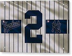 New York Yankees Derek Jeter Acrylic Print by Joe Hamilton