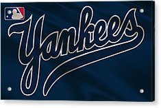 New York Yankees Uniform Acrylic Print by Joe Hamilton