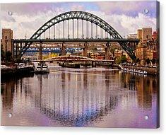 Newcastle Bridges Acrylic Print by Trevor Kersley