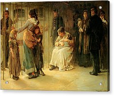 Newgate Committed For Trial, 1878 Acrylic Print by Frank Holl