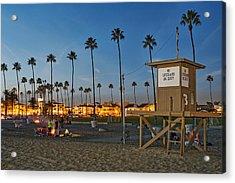 Newport Beach At Dusk Acrylic Print by Kelley King