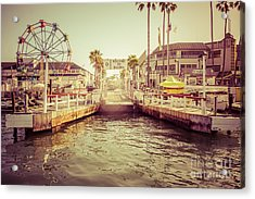 Newport Beach Balboa Island Ferry Dock Photo Acrylic Print by Paul Velgos