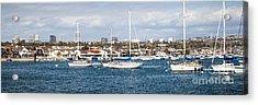 Newport Beach Panorama Acrylic Print by Paul Velgos