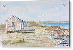 Newport Fishing Shacks Acrylic Print by Michael McGrath