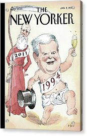 Newt Gingrich And Father Time Acrylic Print by Barry Blitt