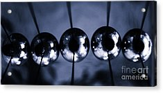Newtons Cradle Acrylic Print by Stelios Kleanthous