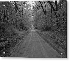 Next Stop..middle Of Nowhere Acrylic Print by John Crothers