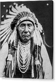 Nez Perce Indian Man Circa 1903 Acrylic Print by Aged Pixel