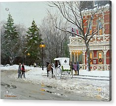 Niagara Carriage By The Prince Of Wales Acrylic Print by Michael Swanson