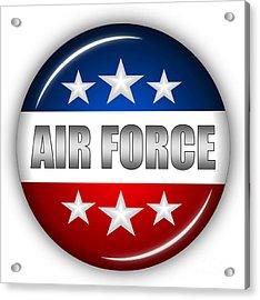 Nice Air Force Shield Acrylic Print by Pamela Johnson
