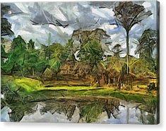 Nice Cambodia Temple Acrylic Print by Teara Na