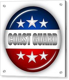 Nice Coast Guard Shield Acrylic Print by Pamela Johnson