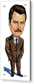 Nick Offerman As Ron Swanson Acrylic Print by Art