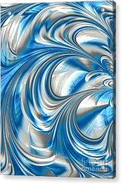 Nickel Blue Abstract Acrylic Print by John Edwards