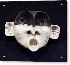 Nico Black Mask Acrylic Print by Mark M  Mellon