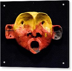 Nico Yellow And Red Mask Acrylic Print by Mark M  Mellon