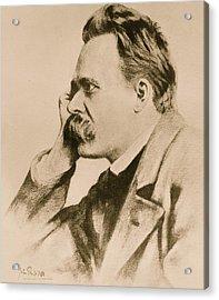 Nietzsche Acrylic Print by Anonymous