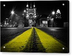Night Bridge Acrylic Print by Keith Allen