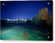 Night Cityscape Acrylic Print by Andre Faubert