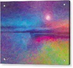Night Dream Acrylic Print by The Art of Marsha Charlebois