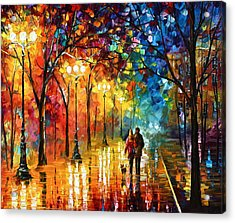Night Fantasy Acrylic Print by Leonid Afremov