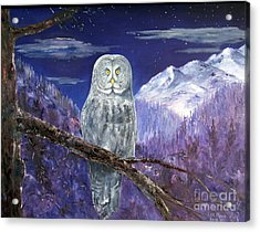 Night Hunter Acrylic Print by Lee Piper
