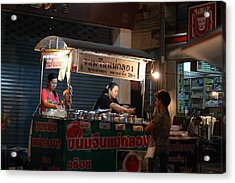 Night Market - Pak Chong Thailand - 01131 Acrylic Print by DC Photographer