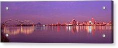 Night Memphis Tn Acrylic Print by Panoramic Images