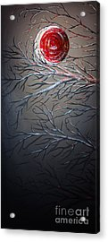 Night Of The Eclipse Panel 1 Acrylic Print by Teshia Art