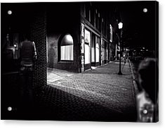 Night People Main Street Acrylic Print by Bob Orsillo