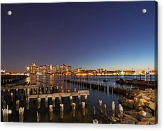 Night Sky Hunter Orion Over Boston  Acrylic Print by Juergen Roth