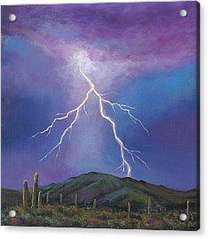 Night Strike Acrylic Print by Johnathan Harris