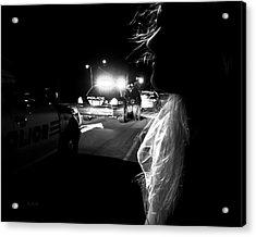 Night Traffic Stop Three Acrylic Print by Bob Orsillo
