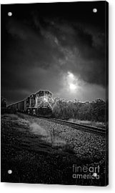 Night Train Acrylic Print by Robert Frederick