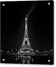 Night View Over The Eiffel Tower Acrylic Print by Antonio Jorge Nunes