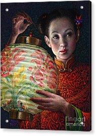 Nightingale Girl Acrylic Print by Jane Bucci