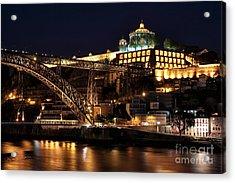 Nighttime In Porto Acrylic Print by John Rizzuto