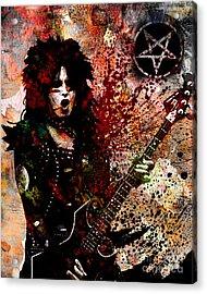 Nikki Sixx - Motley Crue  Acrylic Print by Ryan Rock Artist