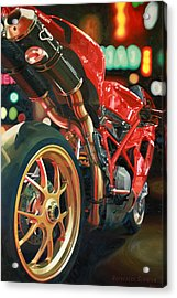 Nine Foot Ducati Acrylic Print by Guenevere Schwien