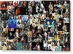 Nirvana Collage Acrylic Print by Taylan Soyturk