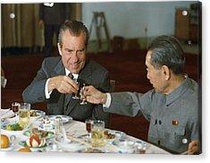 Nixon In China. President Richard Nixon Acrylic Print by Everett