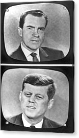 Nixon-kennedy Debate On Tv Acrylic Print by Underwood Archives